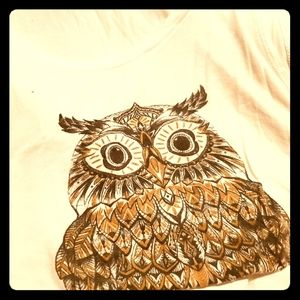 2 for 15Owl Semi cropped white tank L by popular.